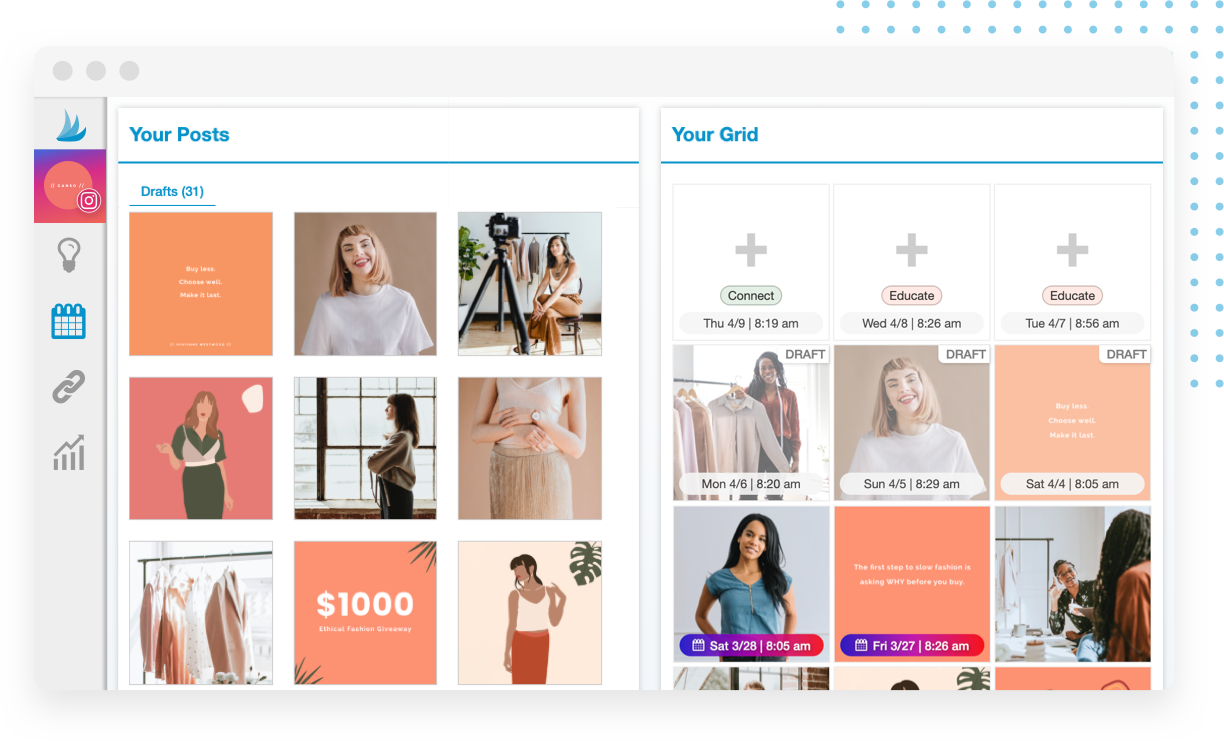 Visually plan and schedule your Instagram posts with the Tailwind Visual Planner