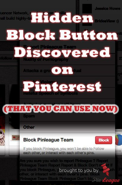 Block button on Pinterest