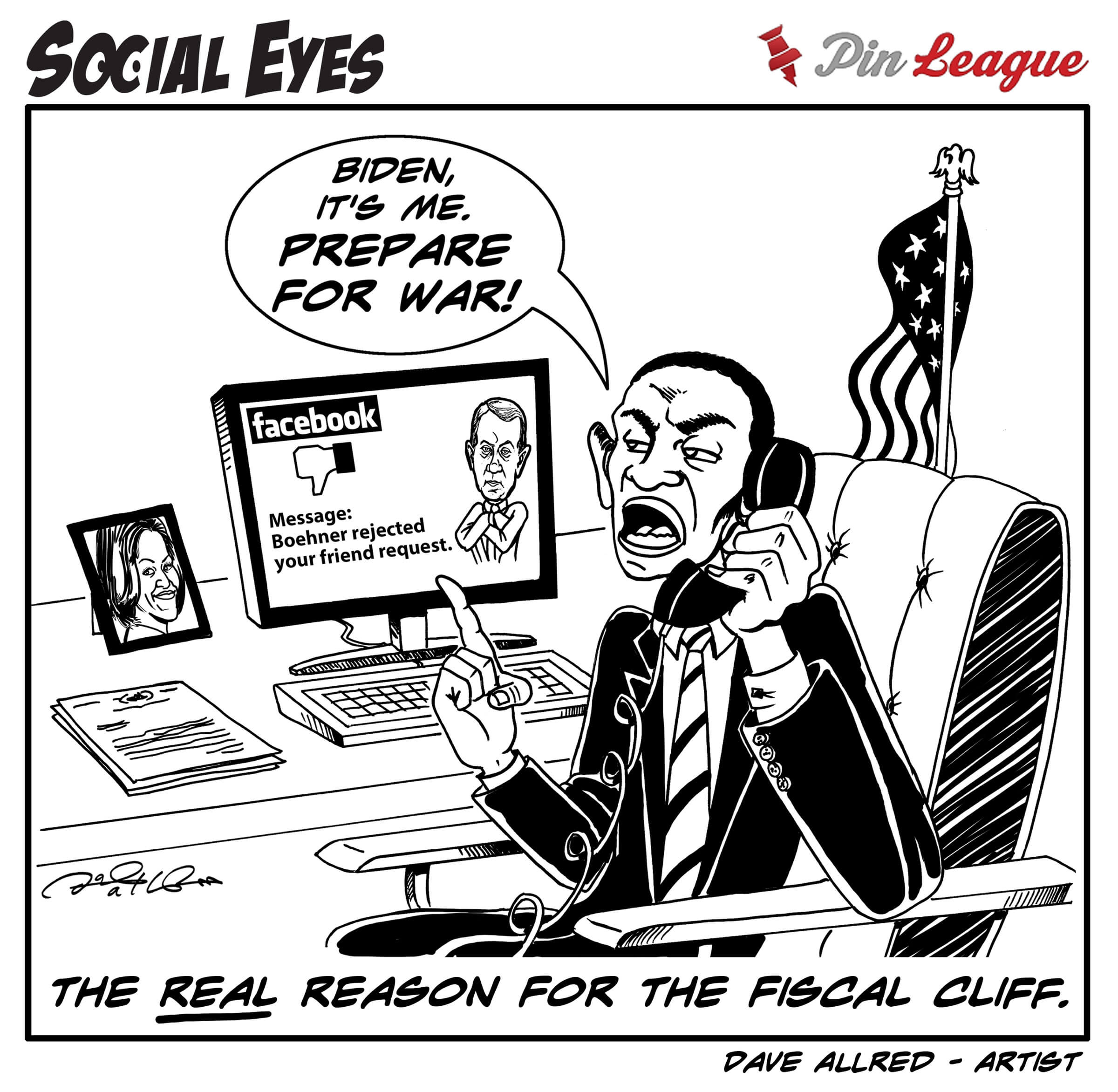 Funny Social Media Cartoon Strip by PinLeague