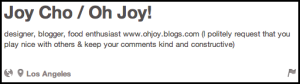 Joy Cho Description