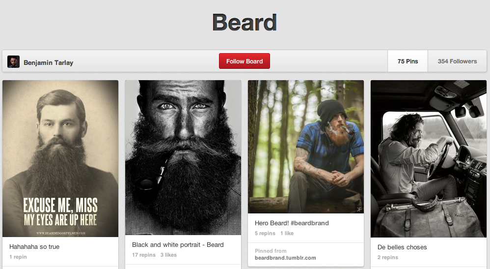 Beard Board for Manly Pinning