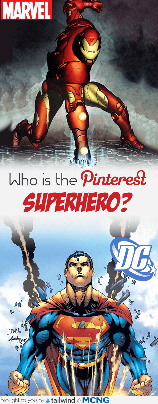 Marvel vs. DC - Who is the Pinterest Superhero?