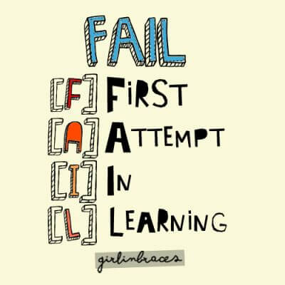 FAIL: First Attempt In Learning