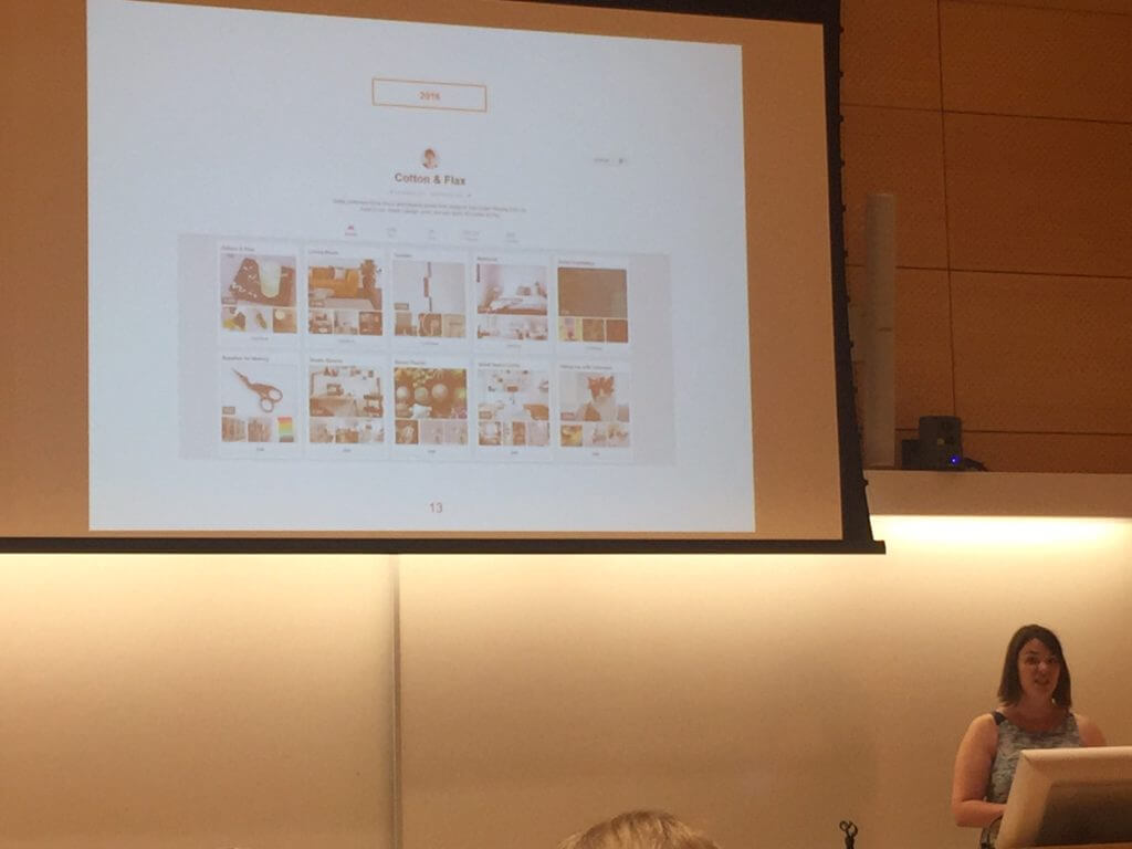 Erin Dollar walking through a number of Pinterest accounts for Etsy stores that have a stellar strategy in place