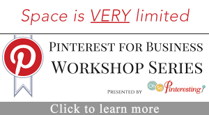 Pinterest for Business Online training workshop limited space