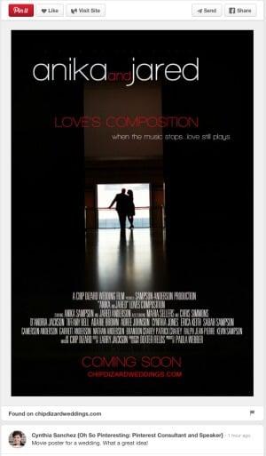 Wedding movie poster by Chip Dizard