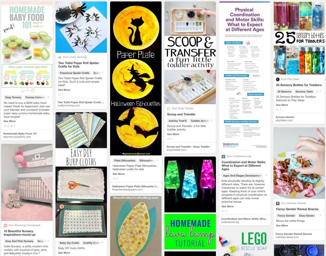Trending in the Kids and Parenting Category on Pinterest in October
