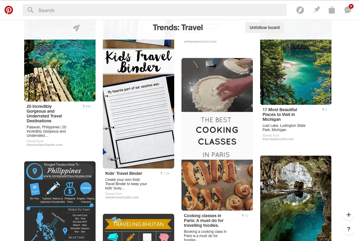 Travel Trends on Pinterest in April