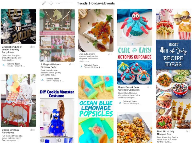 Holiday and Events Pinterest Trends in July