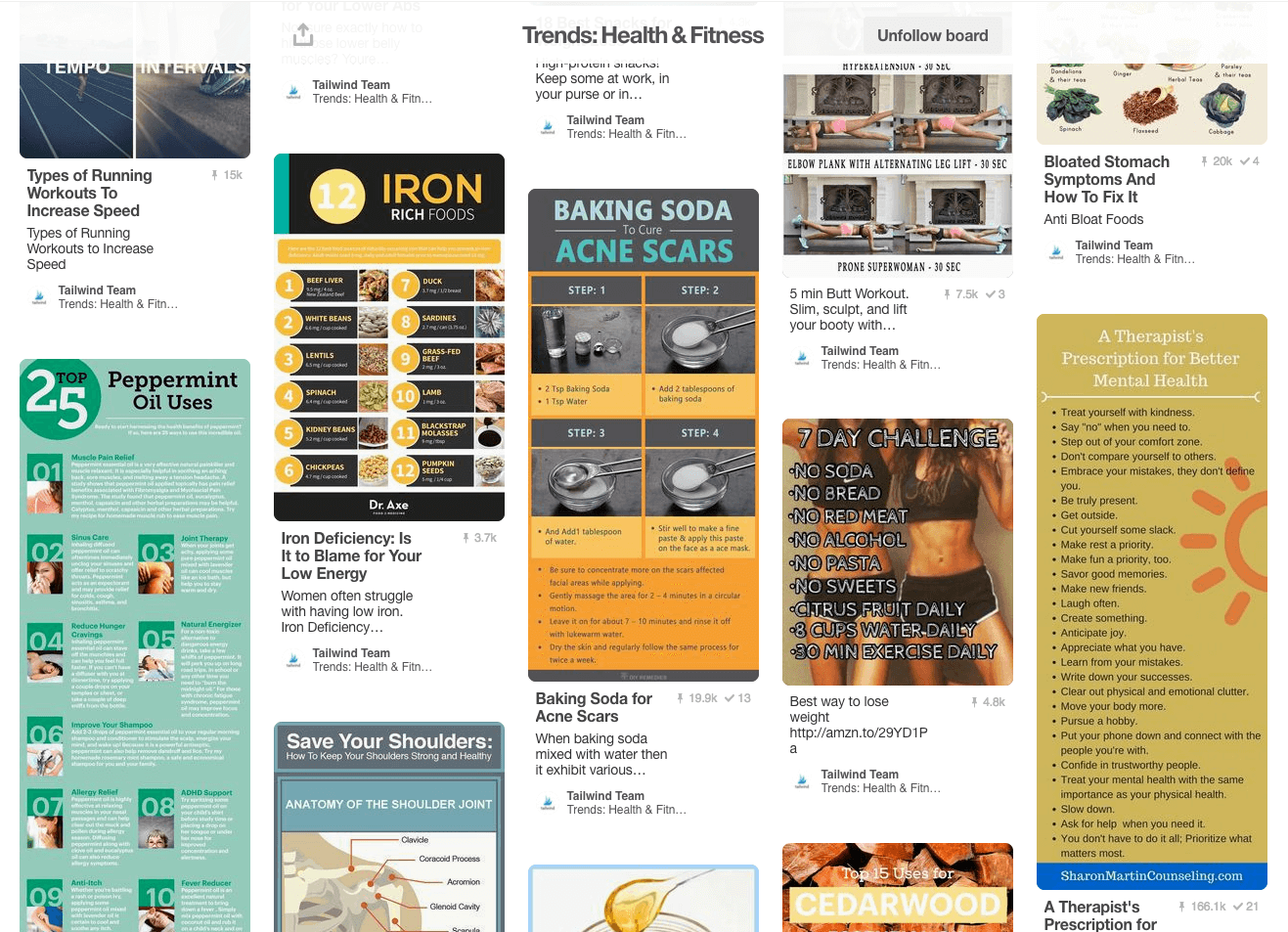 August Health & Fitness Trends on Pinterest
