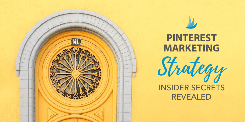 Yellow Intricate Doorway with Text - Pinterest Marketing Strategy Insider Secrets Revealed