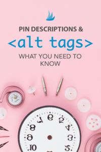 Clock components organized over pink background with text - Pin Descriptions & What you Need to Know