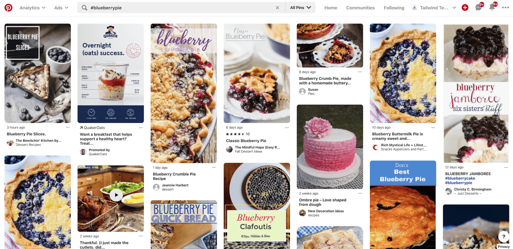 #blueberrypie hashtag results from Pinterest