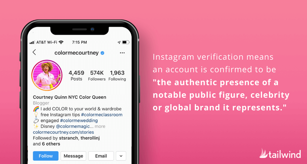 Blue Check on Instagram- Instagram verification means an account is confirmed to be the authentic presence of a notable public figure, celebrity or global brand it represents.