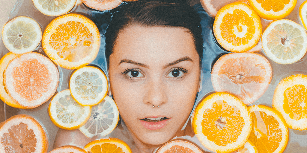 Image of a woman having a skincare treatement