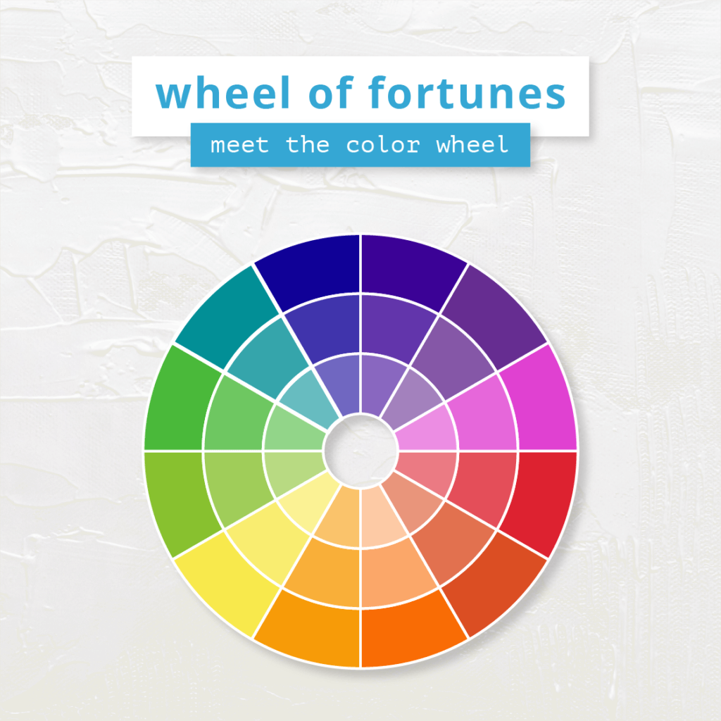 build an instagram color palette with a 12-shade color wheel.