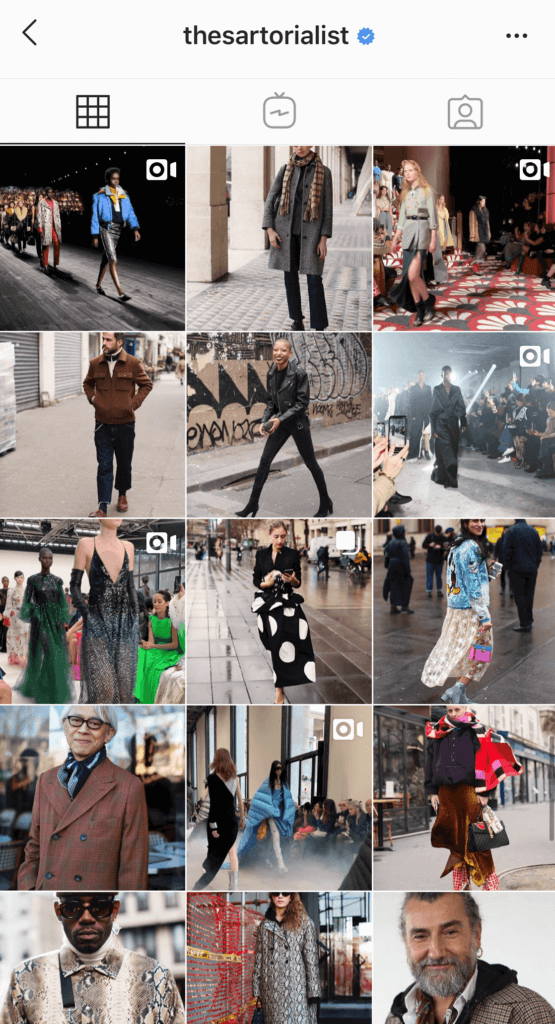neutral instagram feed with color pops
