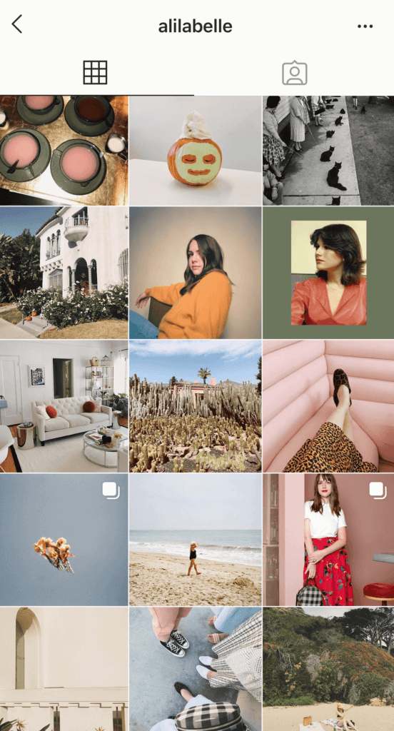 how to change your instagram theme - example of a theme switch from a washed out feed to a brighter pink