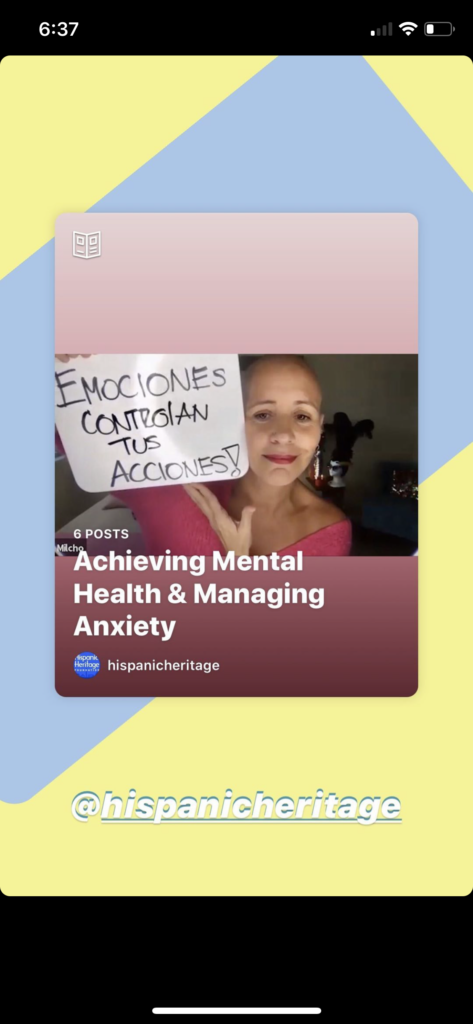 Instagram Guide- Achieving Mental Health & Managing Anxiety
