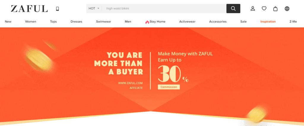 ZAFUL affiliate marketing network platform