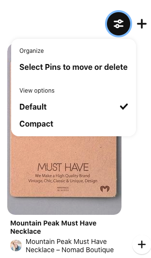 Tap edit on Pinterest and then Select Pins to Move or delete