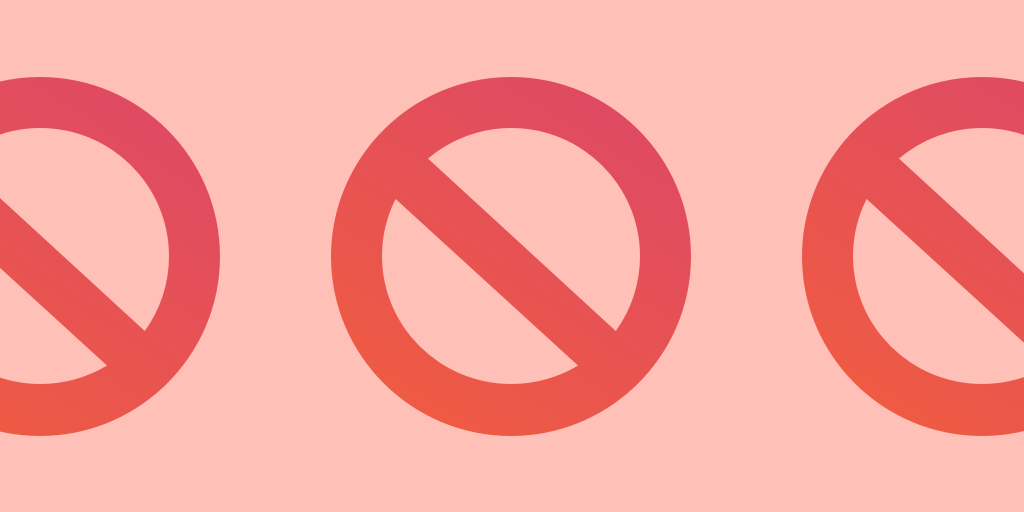 header image Instagram shadowban - no signs on pink background