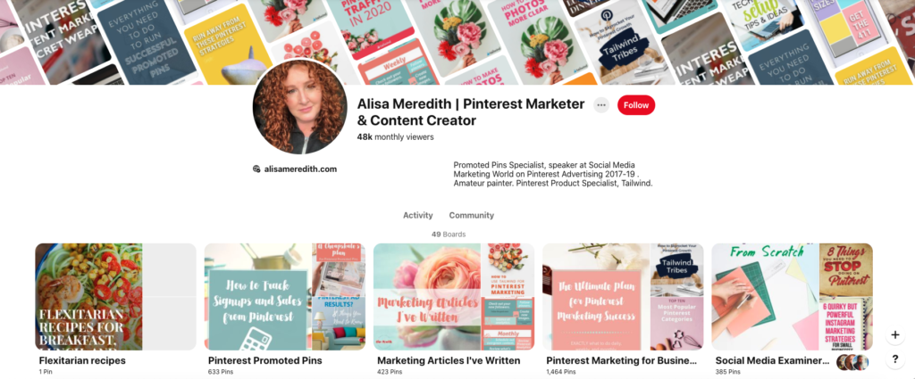 Look at competitors Pinterest profiles to find group boards they contribute to.