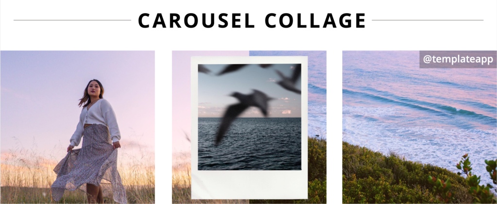use an image splitting tool to create a scrollable carousel post