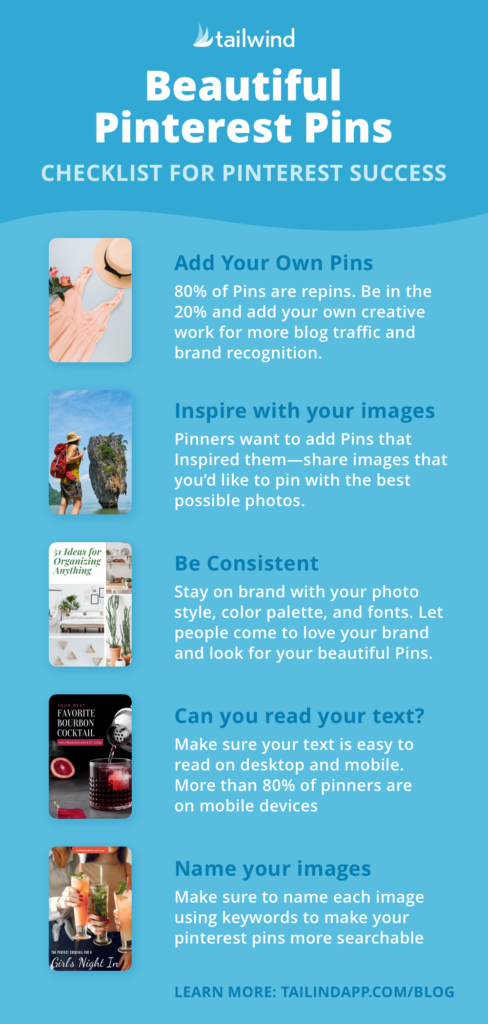 infographic- how to create pinterest pins