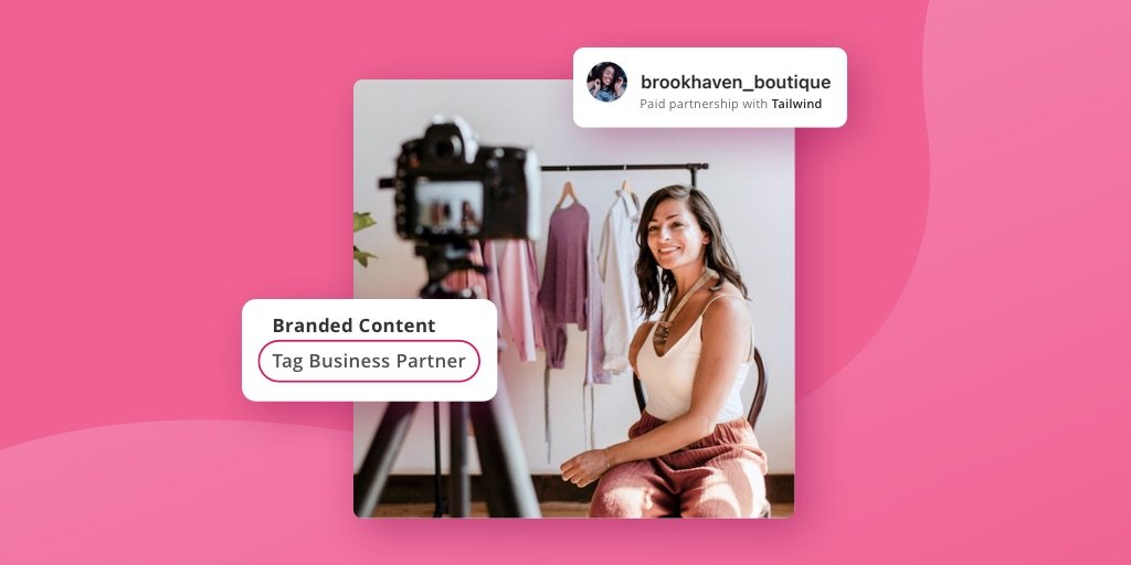 Branded content partnerships on instagram - tag business partner button