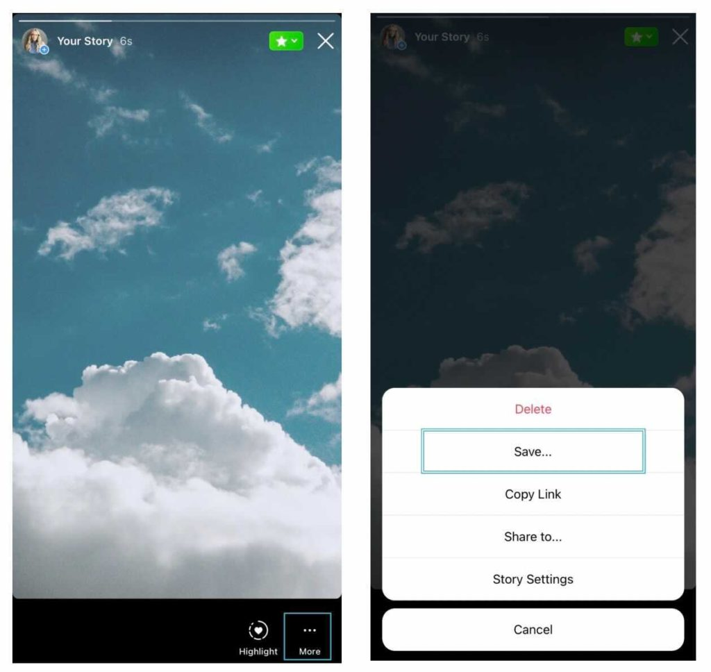 How to save an Instagram Story screenshot tutorial